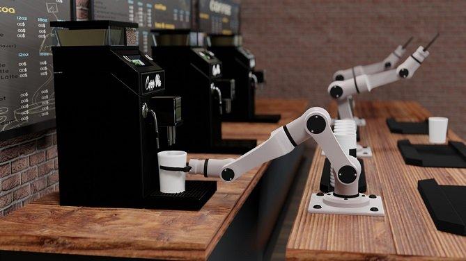 Robot Arm Coffee Maker